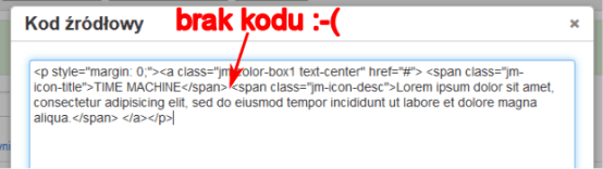 Kod modułu Color Box po zapisaniu