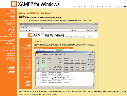 Interface XAMPP