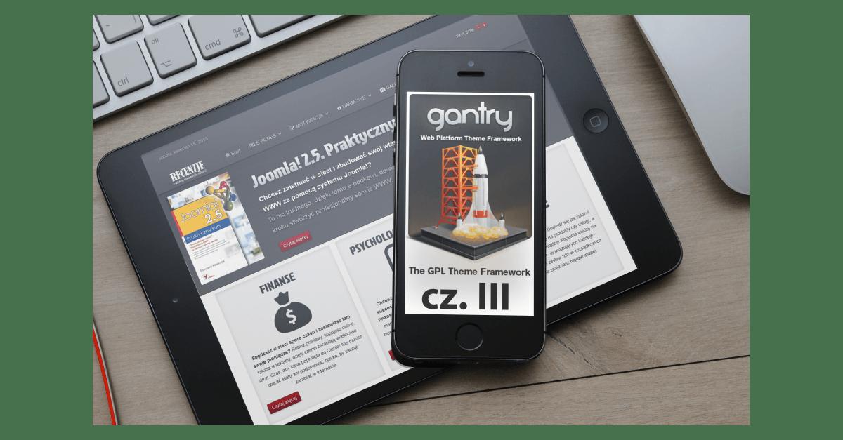 Własny szablon dla Joomla! Gantry - cz. 3