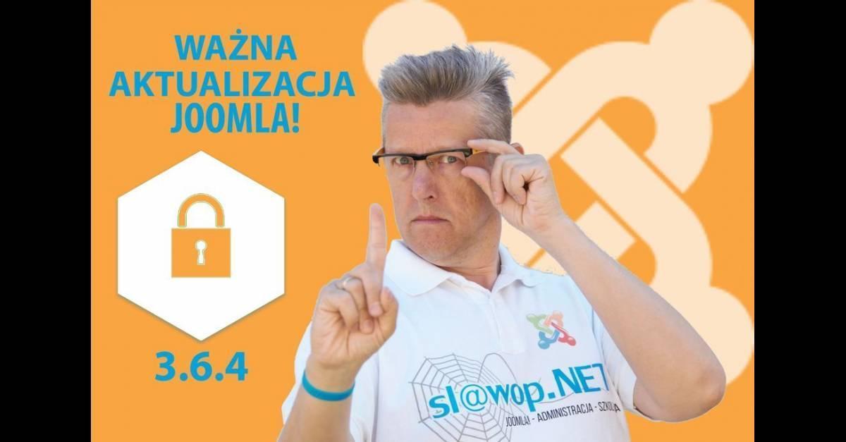 Ważna poprawka bezpieczeństwa Joomla! 3.6.4