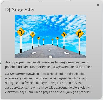 Promuj ciekawe treści za pomocą DJ-Suggester
