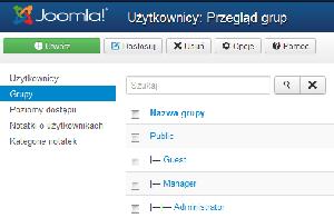 Grupy użytkowników w Joomla! 3.x
