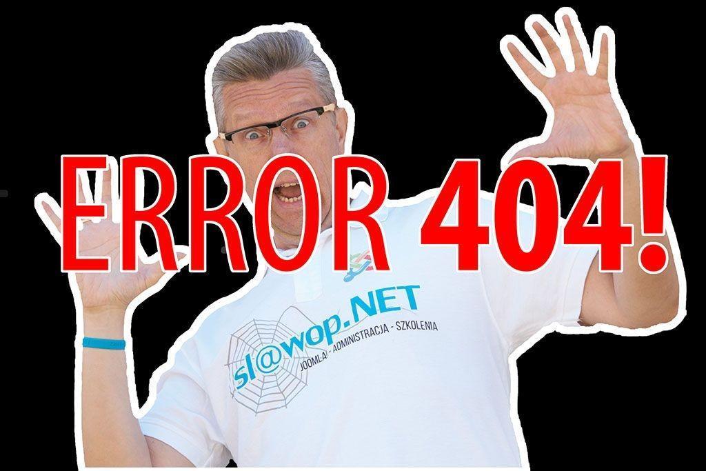 Jak w Joomla! stworzyć własną stronę błędu 404? Metoda 2