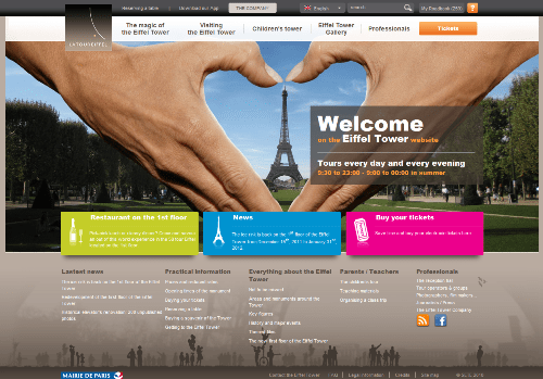 Wieża Eiffel'a - oficjalny serwis